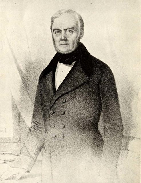 Nicolas Koechlin, engraving, n.d., Cité du Train collection, stored in the Municipal Archives of Mulhouse