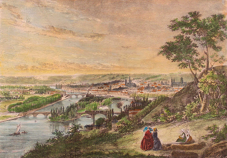 View of Rouen, unknown, n.d., Private collection