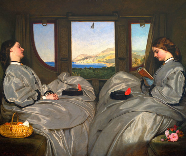 Travelling companions, Augustus Leopold Egg, oil on canvas, 1862, Birmingham Museum and Art Gallery
