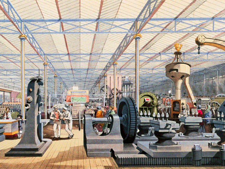 Gallery of Machines at the Crystal Palace exhibition of London in 1851, unknown, n.d., World History Archive