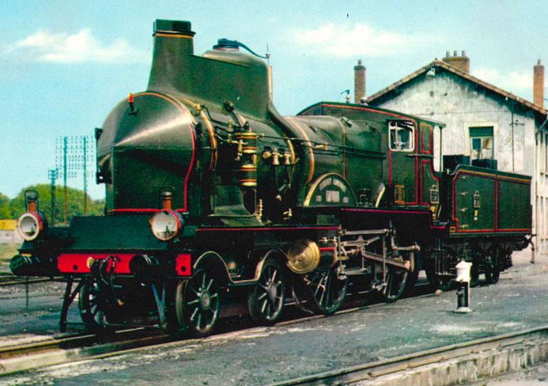 PLM C145 wind cutter locomotive (1900), n.d., Orion post card collection, photograph: M. Lamarche, Cité du Train collection