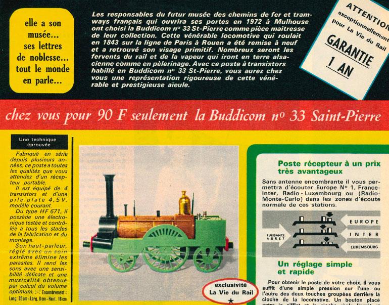 Excerpt from the magazine La Vie du Rail, no 1221 of 7 December 1969, Cité du Train collection