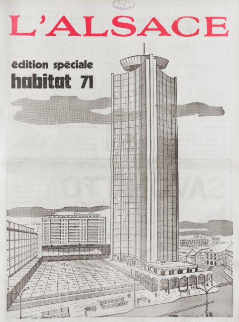 Édition spéciale habitat 71, une du journal L'Alsace, 11 mars 1971, Bibliothèque municipale de Mulhouse