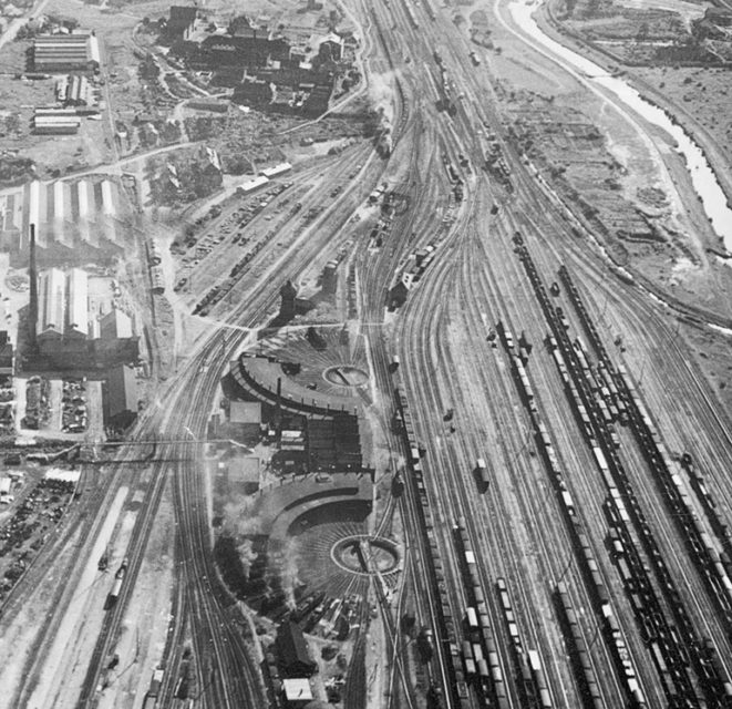 SNCF - Gare du Nord, 1964, photo Rudler, Municipal archives of Mulhouse, 2 Fi 1275
