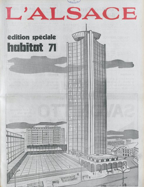 Edition spéciale habitat 71, cover of the newspaper l'Alsace, 11 March 1971, Municipal library of Mulhouse