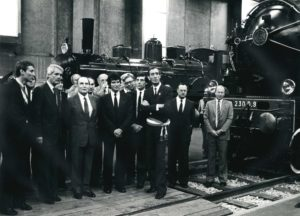Visite du président Mitterrand au musée, 1982
