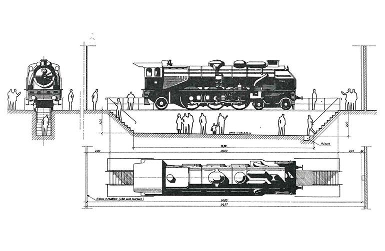 View of 3.1192 Nord on pit, 1971, newsletter of the Société Industrielle de Mulhouse, special issue, quarterly newsletter no 3, p .47, Cité du Train collection