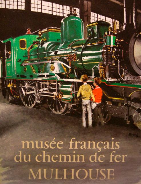 A. Brenet, French Railways Museum, Mulhouse, poster, 1971, Cité du Train collection