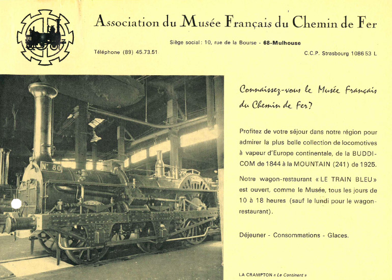 Advertising poster Do you know the French Railways Museum? n.d., Cité du Train collection