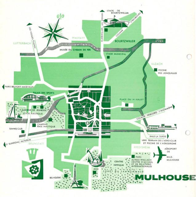 Tourist brochure of Mulhouse, Alsace, France, 1972, Cité du Train collection