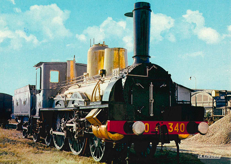 Forquenot no 340 P.O. locomotive (1882), postcard, photograph: M. Lamarche, éditions La Cigogne, Cité du Train collection