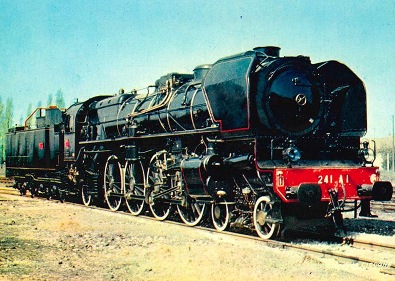 1-241 A 1 ex. 41001 Est locomotive (1925), postcard, photograph: R. Floquet, éditions La Cigogne, Cité du Train collection