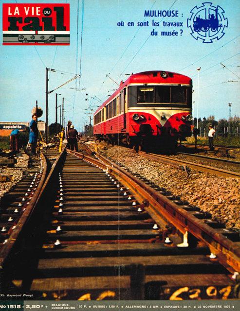 La Vie du Rail, Cover of no 1518, 23 November 1975, Cité du Train collection