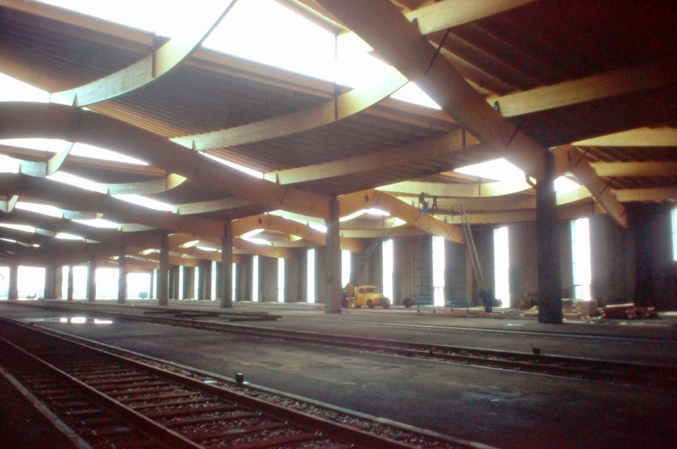 M. Lamarche, Interior of the building of the Museum in Dornach, 1976, slide, Cité du Train collection