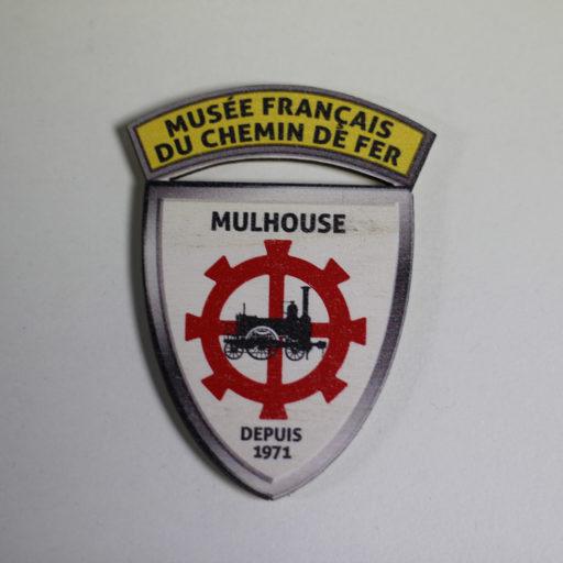 magnet bois blason MFCF collection vintage