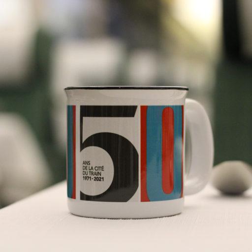 Mug édition 50 ans de la CIté du Train