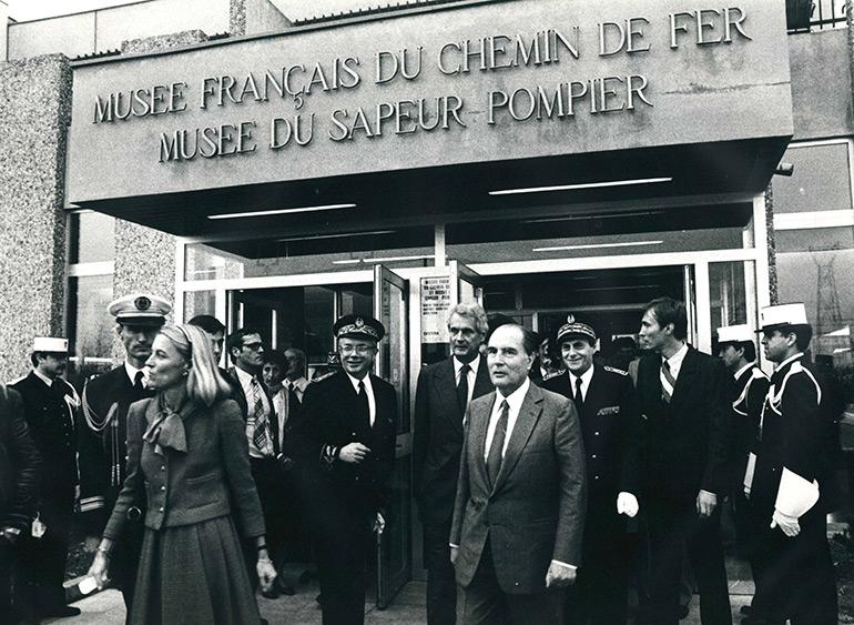 Anonyme, Venue du président François Mitterrand, photographie, 30 septembre 1982, Collection Cité du Train
