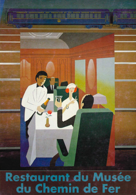 Affiche publicitaire pour le restaurant du Musée Français du Chemin de Fer, s.d., Collection Cité du Train