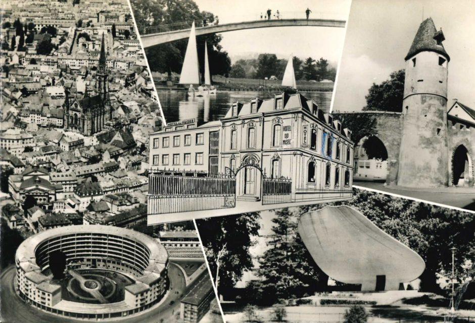 Photos RUDLER Mulhouse, Carte postale Hôtel du musée et de Suisse, s.d., Collection Cité du Train