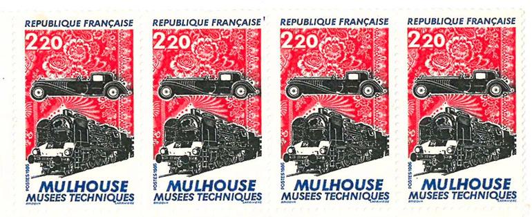 Le premier timbre des musées de Mulhouse