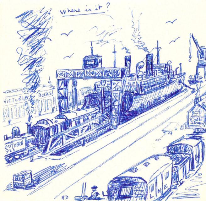 Michel Doerr, Where is it ?, dessin, s.d., Collection Cité du Train