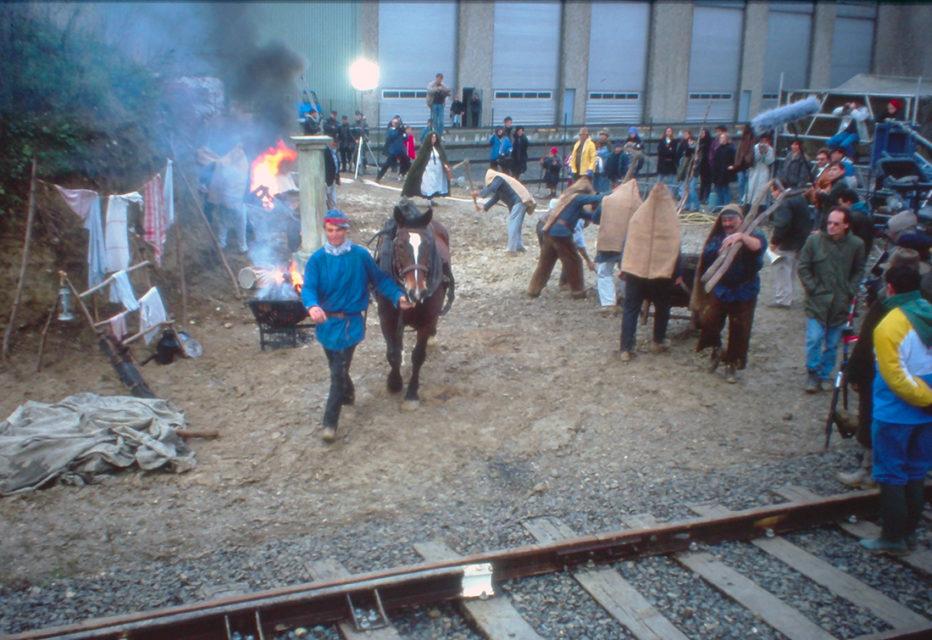 Anonymous, shooting of Le Lait Noir by Daniel Ziegler, photographs, 1993, Cité du Train collection