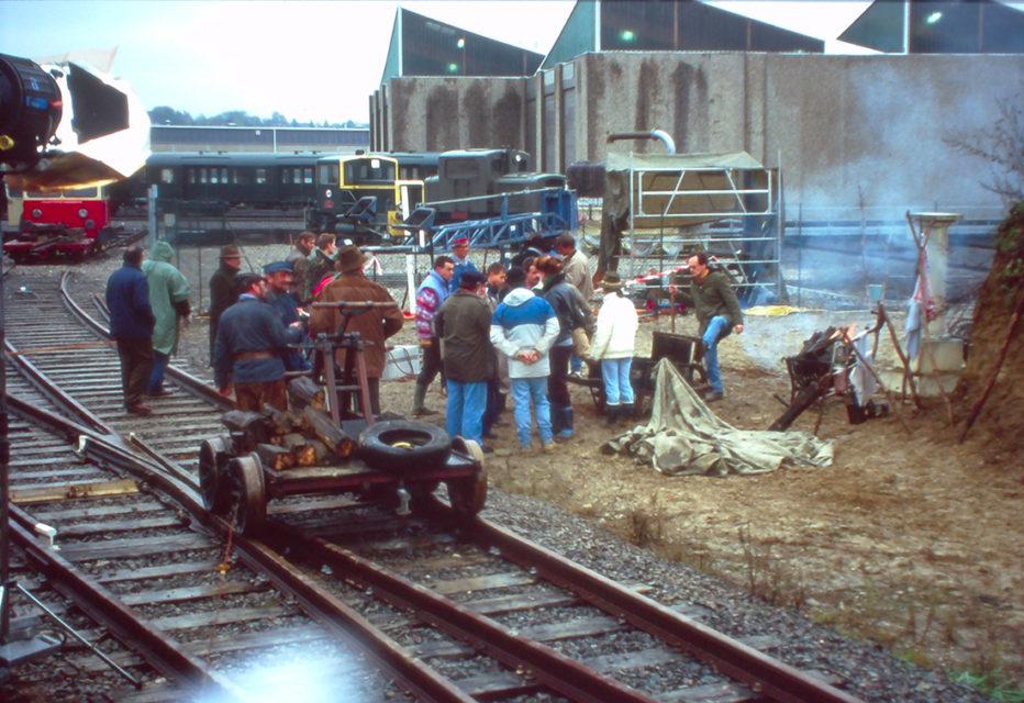 Anonyme, Tournage du film Le Lait Noir de Daniel Ziegler, photographies, 1993, Collection Cité du Train
