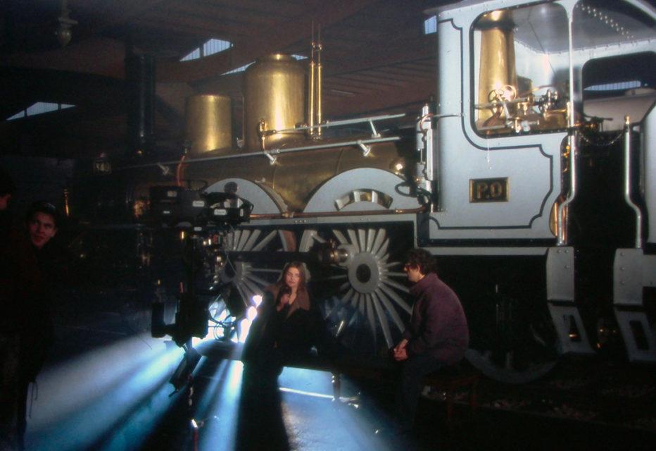 Anonymous, filming of the programme Sacrée Soirée, photographs, 1994, Cité du Train collection