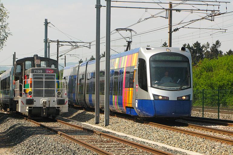 Anonymous, The tram train before the Cité du Train, Photograph, 2011, Cité du Train collection