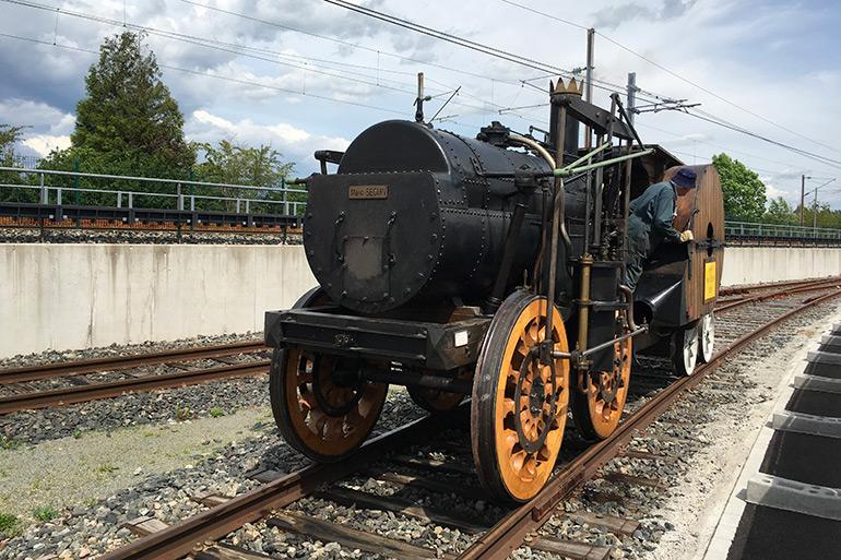 Anonymous, The Marc Seguin locomotive at the Cité du Train, Photograph, 2017, Cité du Train collection