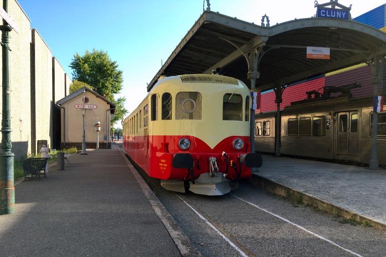 Julien Prodorutti, L'autorail Decauville sur le Panorama Ferroviaire de la Cité du Train, Photographie, 2019, Collection Cité du Train