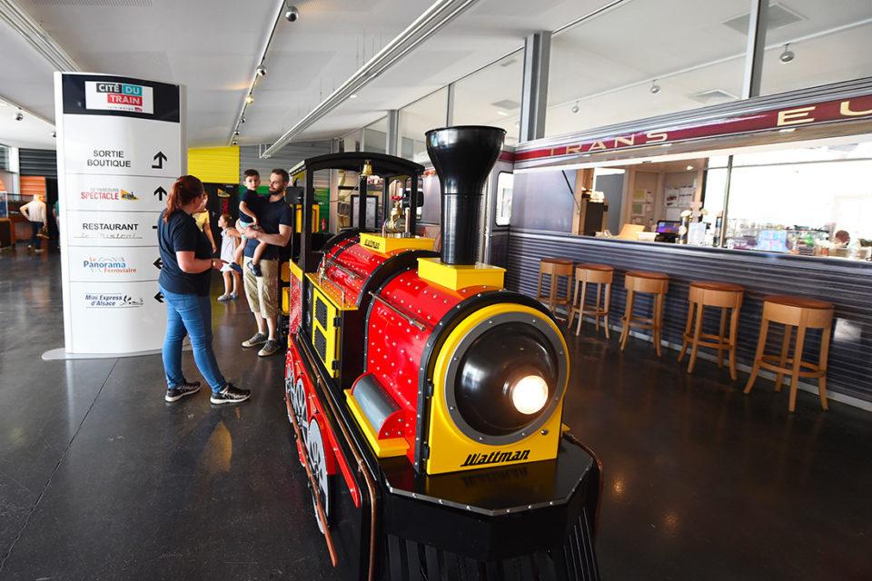 Catherine Kohler, The rubber-tyred train of the Cité du Train, 16 June 2018, Cité du Train collection