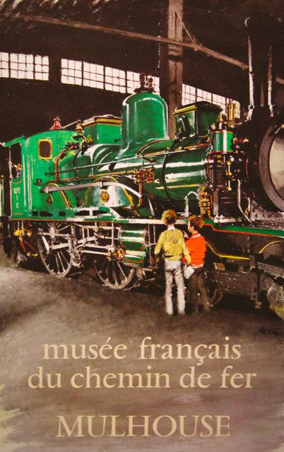 A. Brenet, French Railways Museum, Mulhouse, Promotional poster, 1971, Cité du Train collection