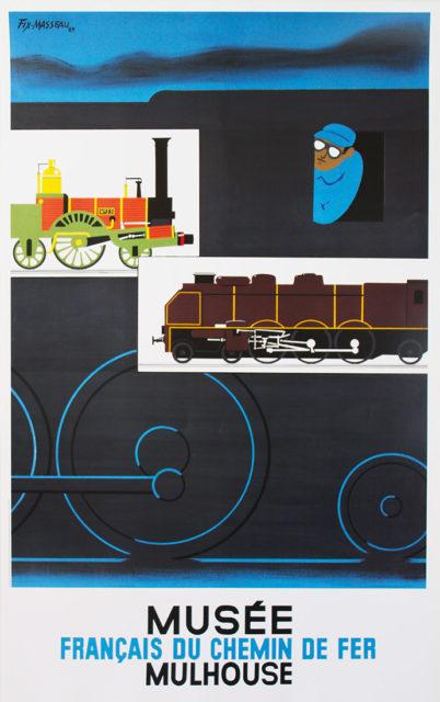 P. Fix-Masseau, French Railways Museum, Mulhouse, Promotional poster, 1989, Cité du Train collection
