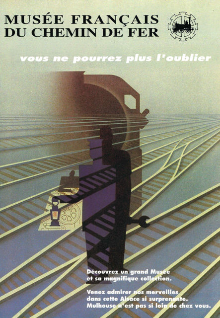 Anonymous, French Railways Museum, an unforgettable experience, Promotional poster that draws on an SNCF poster, 1995, Cité du Train collection