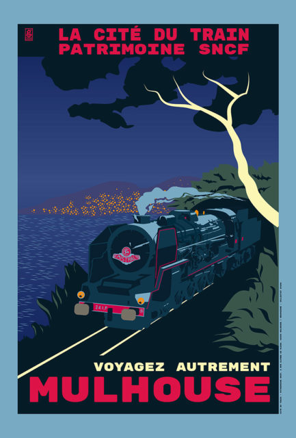 2920g, Travel differently Mulhouse, Poster designed as part of the summer publicity campaign of the museum, 2020, Cité du Train collection